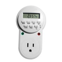 Wholesale energy outlets for sale - Digital Programmable Timer Socket Plug Wall Home Plug in switch Energy Saving Outlet