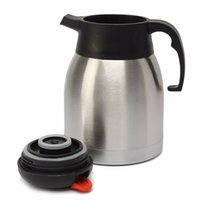 Wholesale Stainless Steel Vacuum Flask Pot - Wholesale- 1.2L 1.5L Large Vacuum Insulated Stainless Steel Water Bottle Thermoes Pot Jug Flask Bottle for Home Kitchen Office Meeting Room