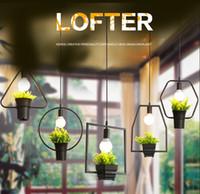 ingrosso erbe moderne-Modern Simple Plant Plant Home and Garden Hanging Lampadari a sospensione Plafoniera a sospensione