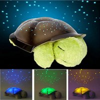 online shopping Led Turtle Projector - Free shipping Turtle LED Night Light Stars Projector Baby Toy Lamp With music for Christmas Home Decoration 1pcs lot