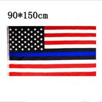 ingrosso rivestimento in poliestere-Bandiera USA sottile della bandiera americana della bandiera americana degli Stati Uniti Stripes Bandiera della bandierina di 150CM * 90CM 3 * 5FT del poliestere