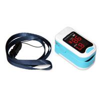 Wholesale pulse oximeter online - CMS50M LED CONTEC Fingertip Pulse Oximeter Spo2 Monitor Carry Case Lanyard HOT SALE CE