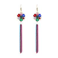 Wholesale Vintage Red Lucite Earrings - New Arrival Bohemian Chandelier Earrings Long Tassel Drop Dangle Earring Jewelry Ear Hooks Retro Vintage Gold Tone Womens Fashion Accessory
