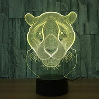 Wholesale head lamp battery powered resale online - Leopard Head D LED Lamp Night Light RGB Lights DC V USB Powered th Battery Dropshipping Retail Box