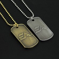 Wholesale-Hot Game Battlefield 4 Bf4 Cosplay Colares Metal Dog Tag Pingentes Correntes