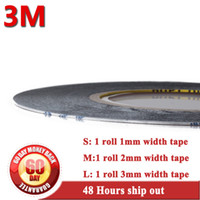 Wholesale 3m 9448 - Wholesale- 2016 3M 9448 BLACK double sides adhesive tape 0.15mm thickness width 1mm 2mm 3mm etc used for stick cellphone cover screen LCD