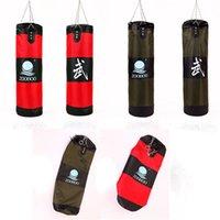 ingrosso sacchetto di sabbia per la punta di mma-In vendita di alta qualità SIZE 100/90/80 / 70CM vuoto allenamento di velocità fitness MMA Thai sparring boxe kickboxing sand punching bag sandbag sacchetti di sabbia