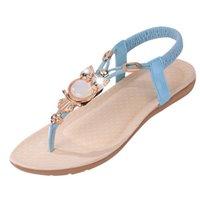 Wholesale Wholesale Wedge Flip Flop Sandals - Wholesale- Women sandals 2015 fashion vintage low heel wedges sandal ankle straps gladiator women sandals summer beach flip flops sandalias