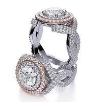 Wholesale Diamond Halo Wedding Ring - 7.20 Ct Round Cut Infinity Style Two Halo Diamond Engagement Ring G,VVS1 GIA