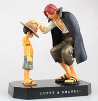 Wholesale One Piece Shanks Toy - 18cm One piece Luffy Shanks Action Figure PVC Collection Model toys brinquedos for christmas gift free shipping