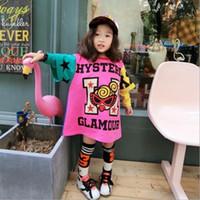 Wholesale Wholesale Long Straight Skirts - Kids Dress 2017 Children Girls Dresses Child Girl Princess Skirt Children's Autumn Long Sleeve Fashion T-shirt Dresses 5 Pcs Lot B