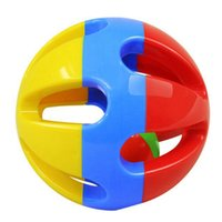 Wholesale Toys For Baby Rolls - Wholesale- LeadingStar Baby Toys Bright Colors Cute Baby Toddlers Fun Bear Head Rattles Rolling Ball Ring Bell Grasp Hand Toys For Children