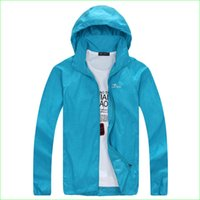 Wholesale Jacket Waterproof Coat For Women - Wholesale-Women Summer Waterproof Jacket Man Hiking Running Outdoor Sports Coat For Couples UV Protective