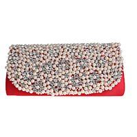 Wholesale Weding Bag - Wholesale- 2016 Bridal Weding Day CLutch Purse Fashion Diamonds Pearl Bag Party Dress Clutch Diamonds Evening bag Beading Clutch XA30D