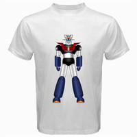 Wholesale T Anime Manga - Mazinger Z M7 anime shin classic manga robot movie T-Shirt white mecha