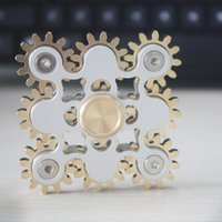 Wholesale Eva Machine - New EDC handspinner Gadget 9 GEAR Hand spinner fidget toy Steampunk fidget machine with 9 wheels Top Finger Gyro Decompression Anxiety Toy