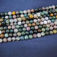 ingrosso gioielli in pietra semi-188pcs / Lot, perline agata India, perline di pietra semi preziose sciolto perline accessori, misura per la creazione di bracciale, gioielli fai da te, dimensioni: 8mm