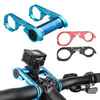 bisikletler için montaj braketleri toptan satış-Promosyon! TrustFire Karbon Fiber Deniz Feneri Bisiklet Bisiklet Gidon Genişletici Uzatma Braketi Tutucu BLL_300 için Montaj Braketi Tutucu