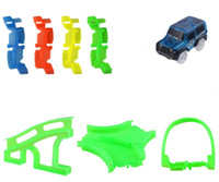 Wholesale Toy Car Bulk - Luminous Electric Track Bulk pieces Cars Educational Jeep CRV Veichle Model Toys For Children Boys Birthday Christmas gifts