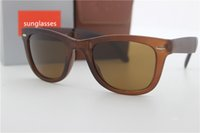 Wholesale High Definition Models - High-definition Advanced Polycarbonat Lens Free Shipping summer style plastic frame Men and Women fold Sunglasses glass lens model