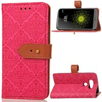 Wholesale Iphone Leather Case Stylus - Real Leather Case For LG G6 G5 G4 G3 G4 Stylus Samsung J2 J5 Prime Note5 s6 Soft TPU Wallet High Qaulity Cases