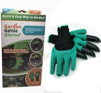 Wholesale Dig Tool - Garden Genie Gloves with 4 ABS Plastic Claws Gardening Rubber Polyester Gloves Tools for Digging planting pruning Roses plant