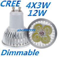 Wholesale Dimmable Mr16 Led Downlights - CREE 12W GU10 MR16 E27 GU5.3 B22 E14 Led downlights Dimmable Led DownLight Spot Lights Lamps 4x3W Warm Cool Pure White Free Shipping