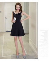 Wholesale Sleveless Mini Dress - Summer New Fashion Women Sexy Backless Off Shoulder Hollow Out Strap Mini sleveless Elegant Mini Party Dress