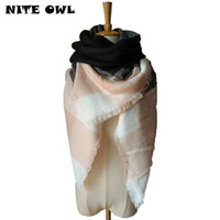 Wholesale Winter Scarf For Women Scarf Cashmere Warm Plaid Pashmina Scarf Luxury Brand Blanket Wraps Female Scarves And Shawls RO17114