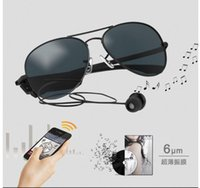 Wholesale Smart Sunglasses - Gonbes K3-A Smart sunglasses Bluetooth Sunglasses for men women With Voice Control Function Music sport sunglasses for iPhone Samsung