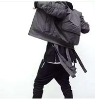 Wholesale Biker Bomber - Wholesale- Cool Exclusive Bomber Jacket Men Kanye West HipHop Fake Designer New Fashion Casual Biker Ma1 Flight Bomber Jacket Coat