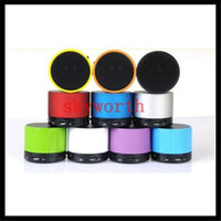 Wholesale Beatbox Portable Bluetooth Speaker - Bluetooth 4.0 Portable LED Mini S10 Speaker wireless soundbox hd beatbox TF card slot S10 for MP3 MP4 Cellphone Tablet PC