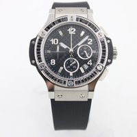 Wholesale Ladies High Tops - High Quality Top Swiss Brand 36MM Luxury Ladies Watches Quartz Chronograph Womens Watch Black Dial With Black Diamond Bezel Christmas Gift