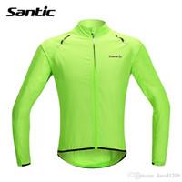Wholesale Cycle Clothing Wholesale - 2017 Santic Waterproof Cycling Jersey Rain Jacket Ropa Ciclismo Windproof Windcoat Bicycle Clothing MTB Bike Jacket Cycle Raincoat