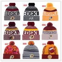 Wholesale Redskins Cap - 2017 New Redskins Beanies American Football HOT team Beanies Sports Beanie Knitted Hats Free drop shipping Snapbacks Hats album offered
