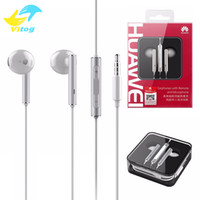 Wholesale headphones remote mic - HUAWEI AM116 Earphone P8 p9 Lite In-ear Metal Headphones With Mic Remote Control For huawei p7 p8 p9 mate7 mate8 mate s