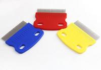 Wholesale Metal Comb Dog - Free Shipping+Wholesale Pet Dog Cat Clean Comb Metal Lice Comb Small Pet Nit Lice Comb,200pcs lot