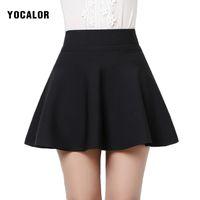 Wholesale High School Girl Mini Skirt - Wholesale- Autumn Winter Korean Short High Waist Sexy Mini Black Flared Micro School Girl Ruffle A-line Skirt Female Skirts Womens
