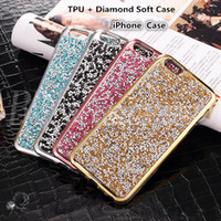Wholesale Flash Crystal Case - For iPhone 7 Jewelry Case Diamond TPU Case For Iphone 6s Cases Crystal Luxury Glitter Bling Flash Power Soft Case