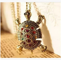 Wholesale Exo Chain - Wholesale-NK387 Hot Exo Maxi Necklace Bijoux Color Turtle Statement Pendants Necklaces For Women Wedding Jewelry Accessories collares
