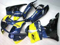 carenados 1995 al por mayor-Carenados azules amarillos para HONDA CBR900 RR 94 95 96 97 CBR900RR 893 1994-1997 1995 1996 CBR900 RR 1994-1997 893 juegos de carenado # 8b2w3