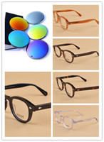 Wholesale Johnny Depp Lens - Brand Sunglasses-Top Quality Moscot Lemtosh sunglasses Polarized coating Lens Fashion Design Johnny Depp Men Sunglasses Sun Glasses 8 lenses