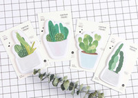 Wholesale Adhesive Memo Pad - Wholesale- New cute cactus love notepad   paper sticky message note   Memo pad   Wholesale