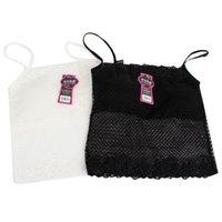 Wholesale Hot Tube Bra - Wholesale- Lady's Black White Pad Camisole Underwear Bra Mesh Tube Top Tank Lace Floral Bra Hot