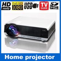 Wholesale Cheapest Full Hd Projector - Wholesale- Cheapest Home theater Projectors 5000lumens Native1280*800 Full HD Portable Projector proyector LCD Video TV HDMI USB Beamer