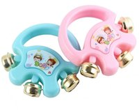 Wholesale Designs Interactive - Wholesale- 1Pc Lovely Cute Interactive Developmental Baby Kid Child Handbell Jingle Design Shaking Rattle Toy Musical Instrument