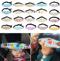 Wholesale baby accessories - Baby Infant Auto Car Seat Support Belt Safety Sleep Aid Head Holder For Kids Child Baby Sleeping Safety Accessories Baby Care KKA2512