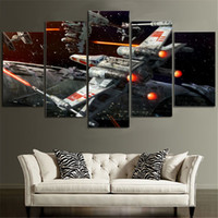 Wholesale Painting Living Room Sale - New Cheap Print Wall Painting 5 Pieces 100% Canvas Spacecraft Pictures For Living Room Hot Sale Drop Shipping