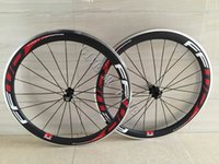 Alliage Braking Surface Carbon Wheelset Route Vélo 700C Aluminium 50mm FFWD Décalques Rouges Carbone Roues Clincher Vélo de Course Fibre de Carbone Chinois