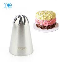 Wholesale Large Icing Tips - Wholesale- #336 Large Size Icing Nozzle Decorating Tip Sugarcraft Cake Decorating Tools Baking Tools Bakeware